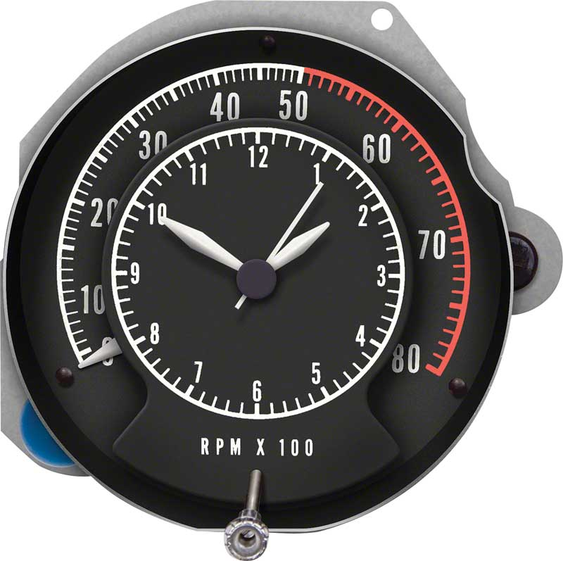 68-70 B BODY RALLY DASH TIC TOC TACHOMETER