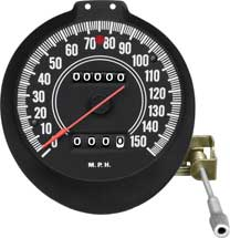 70-71 E BODY RALLY GAUGE SPEEDOMETER WITH 150 MPH