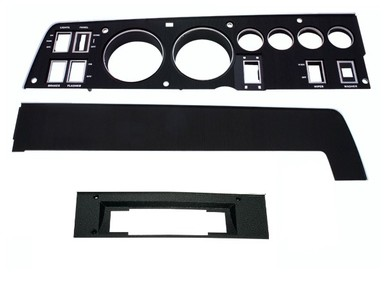 68 CHARGER RALLY DASH BLACK BEZEL KIT WITH 8 TRACK AND WITH AC