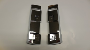 68-72 A BODY FRONT ARM REST BASES CHROME SOLD AS A PAIR