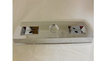 68-72 A BODY REAR CHROME ARM REST BASES SOLD AS A PAIR