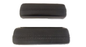 68-72 A BODY FRONT ARM REST PADS BLACK SOLD AS A PAIR