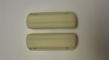 68-70 A BODY FRONT ARM REST PADS WHITE SOLD AS A PAIR