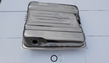 72 LATE -74 CUDA 18 GALLON 4 FRONT VENTS STAINLESS STEEL GAS TANK