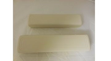 "66-70 B BODY FRONT ARM REST PADS 9"" WHITE SOLD AS A PAIR"