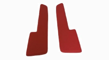 64-66 A BODY, 64-65 B & C BODY RED ARM REST PADS 11""