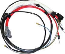 66 B BODY HEMI POSITIVE BATTERY CABLE WITH MANUAL TRANSMISSION