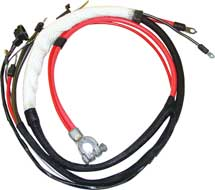 68-69 B BODY HEMI POSITIVE BATTERY CABLE WITH AUTOMATIC TRANSMISSION WITH 3 PRONG NEUTRAL SAFETY SWITCH