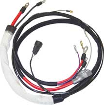 68-69 B BODY CHARGER HEMI POSITIVE BATTERY CABLE WITH MANUAL TRANSMISSION