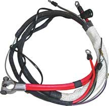 68-69 B BODY (EXCEPT CHARGER) HEMI POSITIVE BATTERY CABLE WITH MANUAL TRANSMISSION