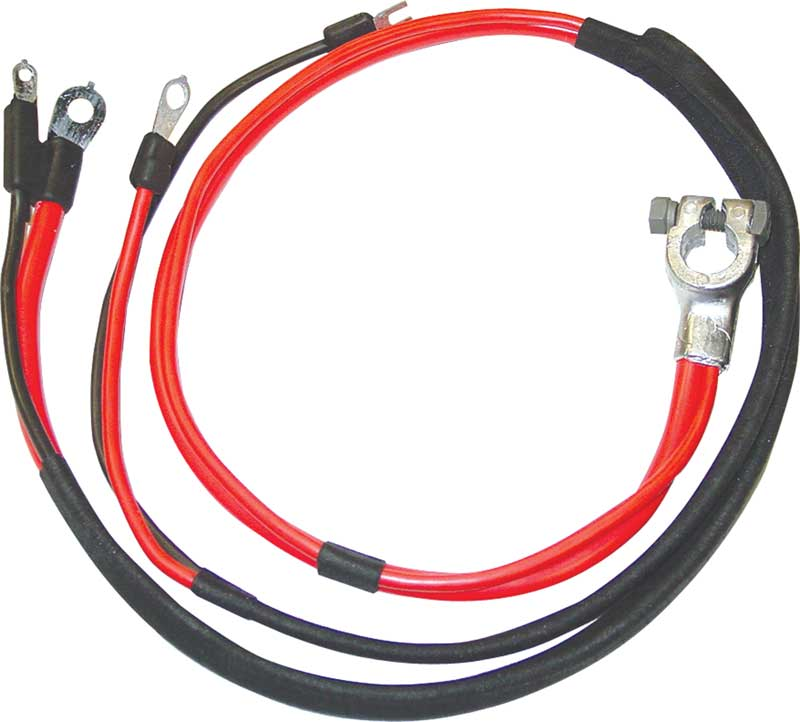 69-70 B BODY POSITIVE BATTERY CABLE BIG BLOCK WITH 1 PIECE MOLDED STARTER LUG