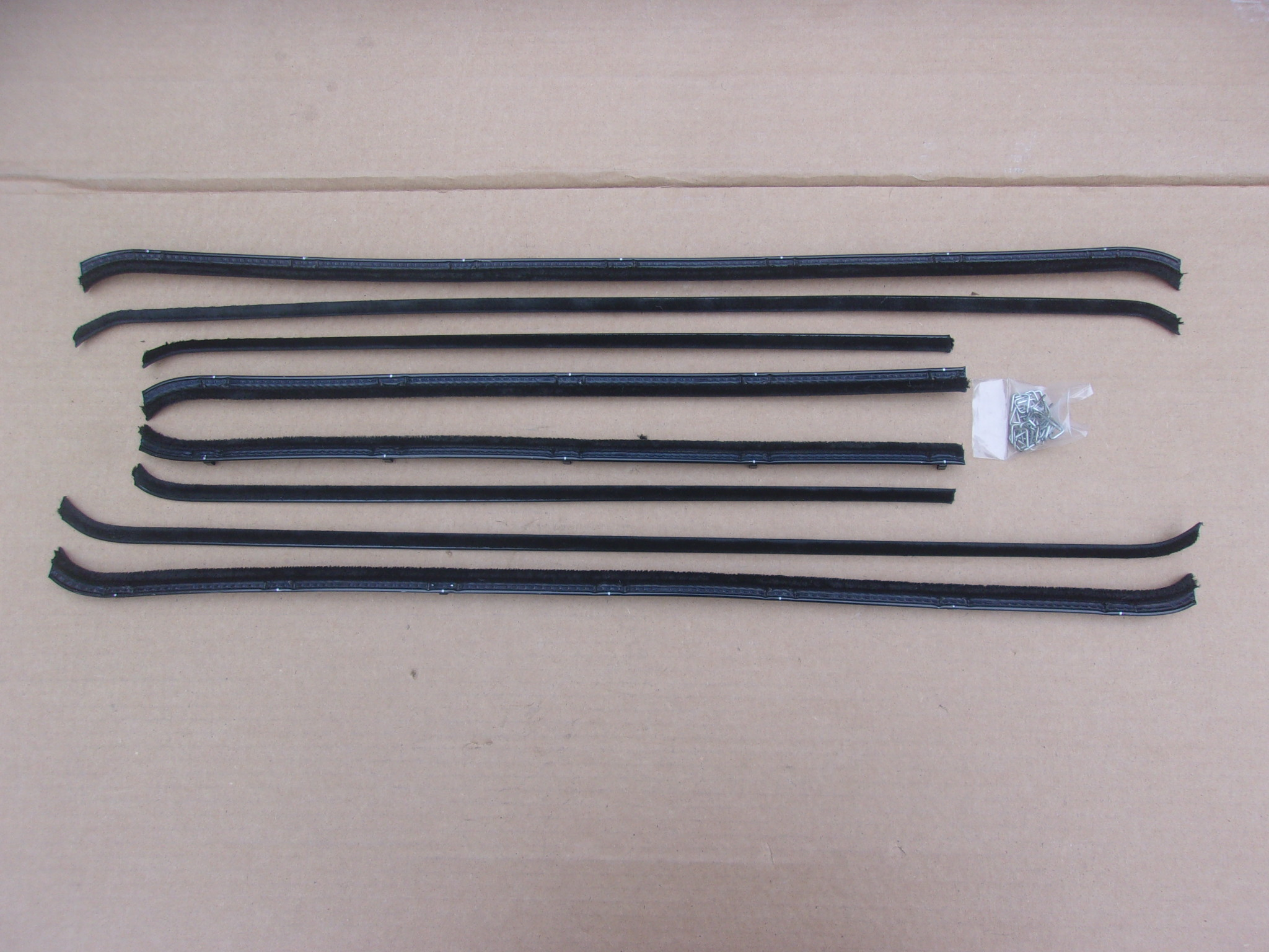 57-59 PLYMOUTH DODGE 4 DR SEDAN BELT CATWHISKERS