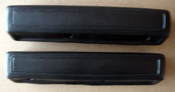 66-70 CHARGER, 67-70 C BODY 2 DOOR BLACK FRONT ARM REST PADS 13""
