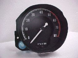 68-70 B BODY RALLY DASH TACHOMETER WITH NO CLOCK