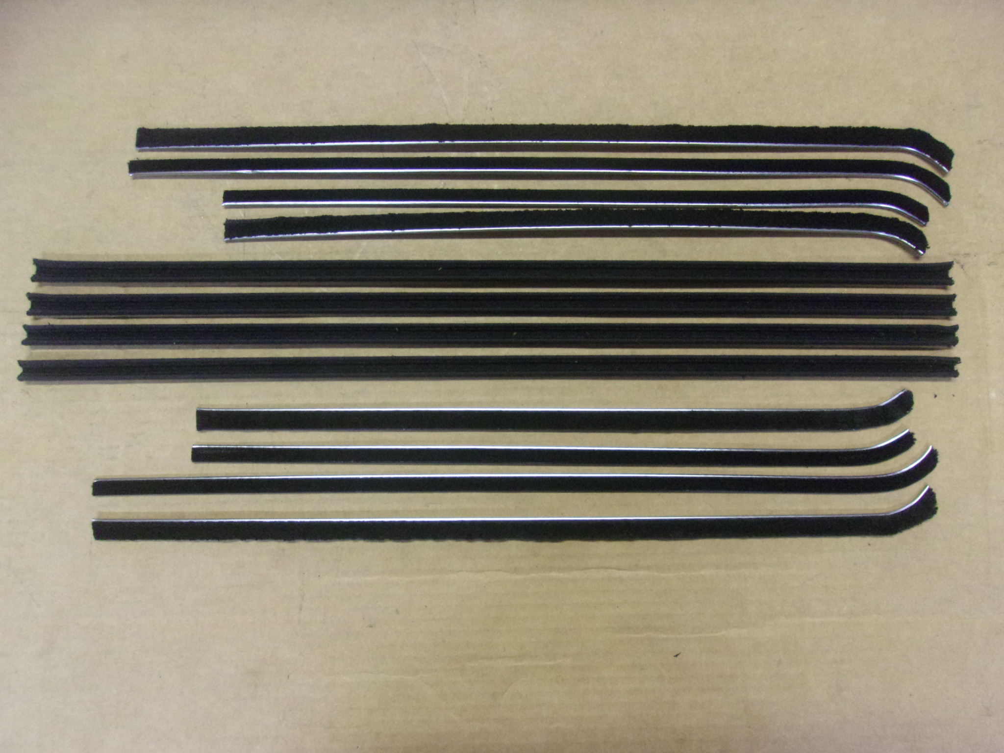 55-56 DESOTO/CHRYSLER 4 DOOR SEDAN BELT CATWHISKERS