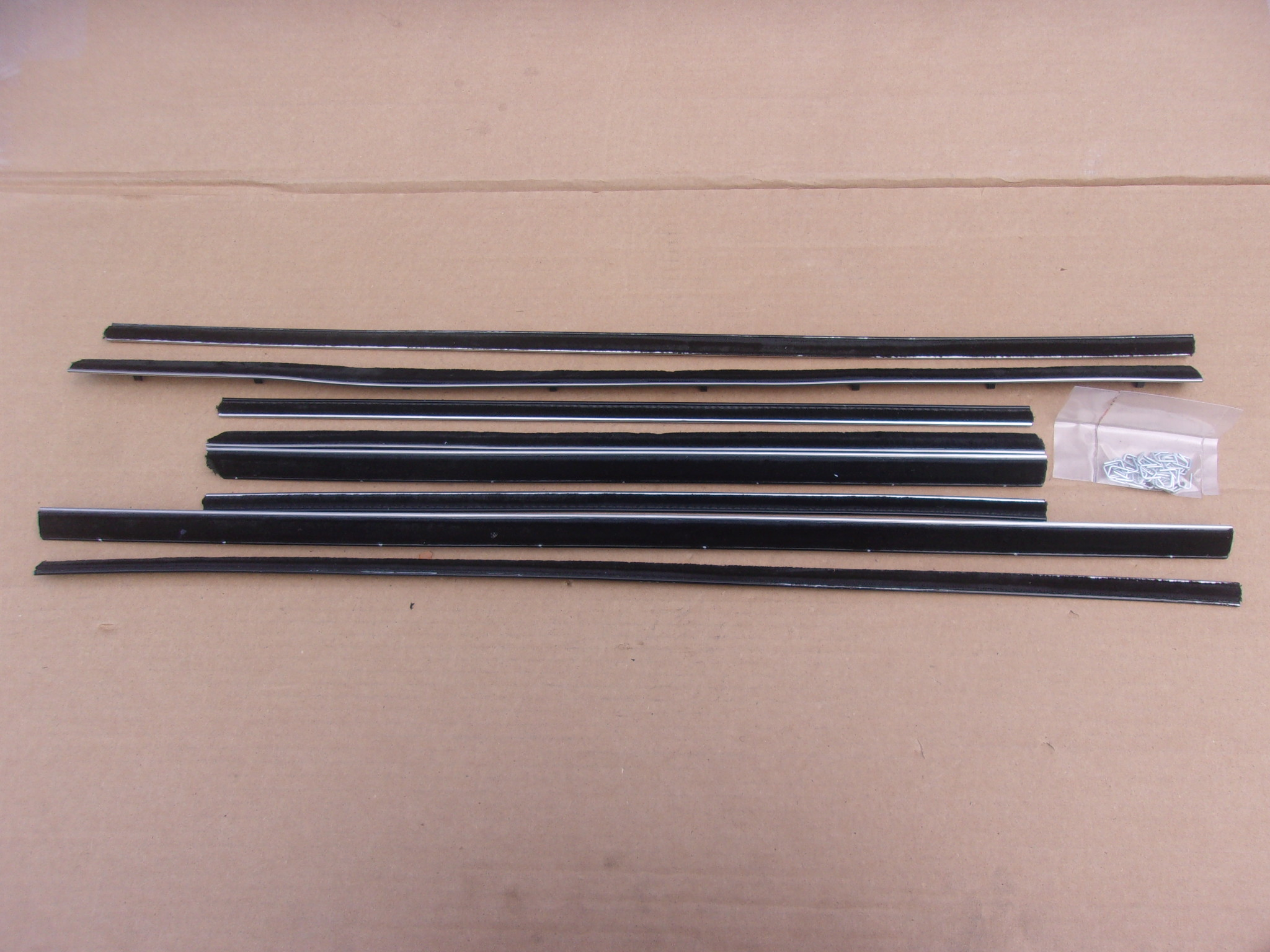 65-68 C BODY 4 DR SEDAN & WAGON WITH BLACK BEAD BELT CATWHISKERS