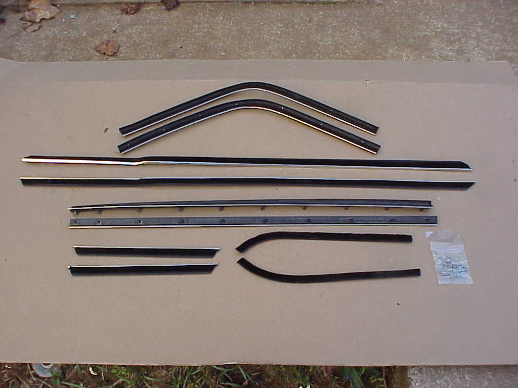 67-68 FURY, POLARA, MONACO, CHRYSLER FASTBACK BELT CATWHISKERS