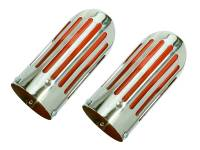 71-72 B BODY RED SLOTTED HEMI EXHAUST TIPS