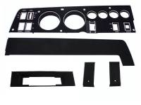 68 B BODY BLACK DASH BEZEL KIT W/8 TRACK RADIO