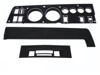 68 B BODY BLACK DASH BEZEL KIT W/AC & STANDARD RADIO