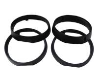 71 CUDA HEADLIGHT BEZELS BLACK