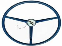 67-69 B&A BODY BLUE PLASTIC STEERING WHEEL