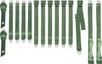 70 A BODY GREEN SEAT BELT SET BENCH SEAT