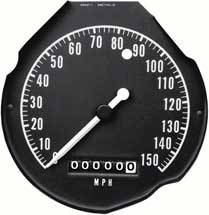 68-70 B BODY RALLY GAUGE SPEEDOMETER WITH 150 MPH