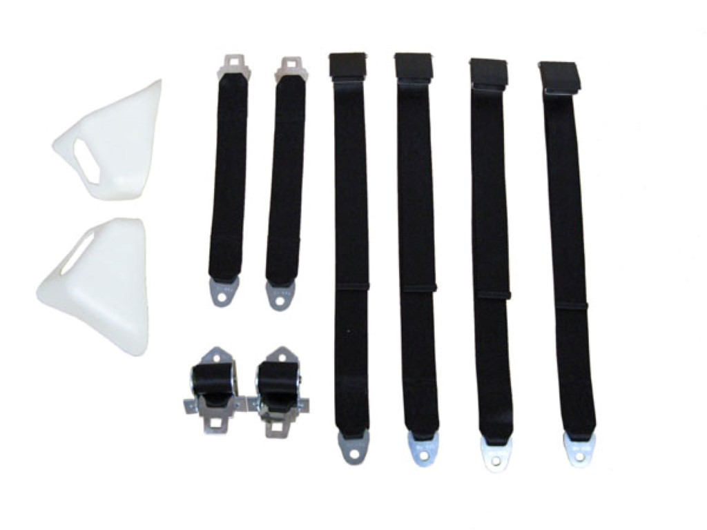 70 E BODY CONV BLACK SEAT BELT KIT