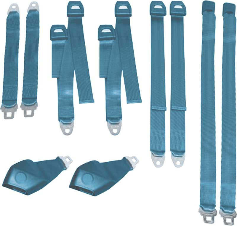 71 E BODY HARD TOP BLUE SEAT BELT SET