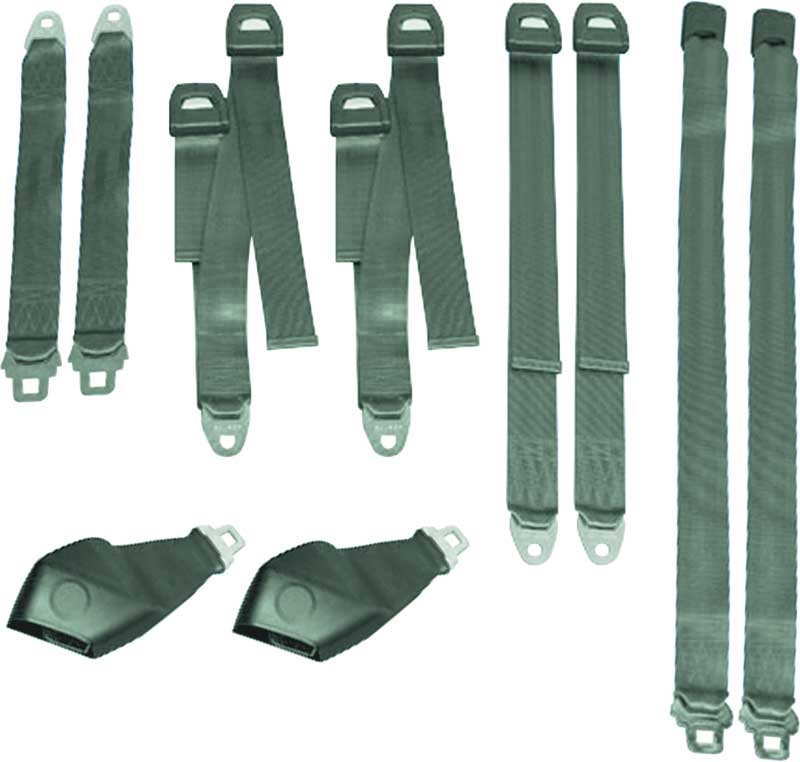 71 E BODY HARD TOP GREEN SEAT BELT SET