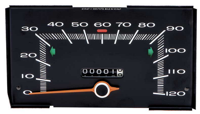 70 PLYMOUTH A BODY SPEEDOMETER WITH 120 MPH