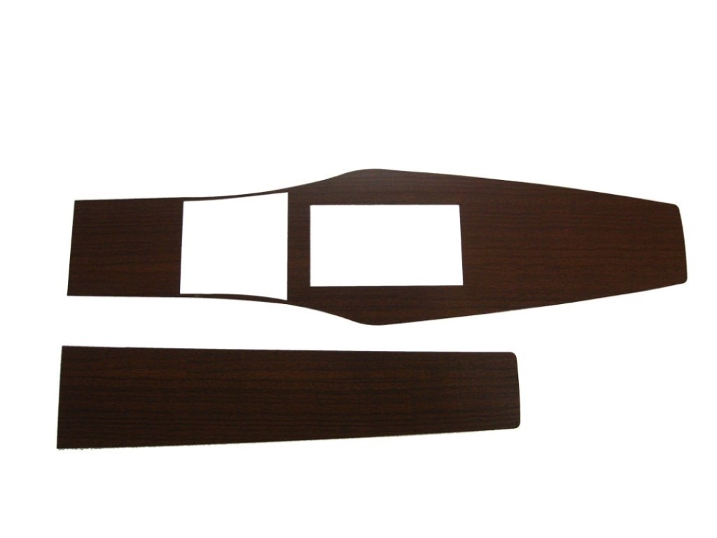 1969-70 A-body 4 Speed Console Woodgrain Inserts
