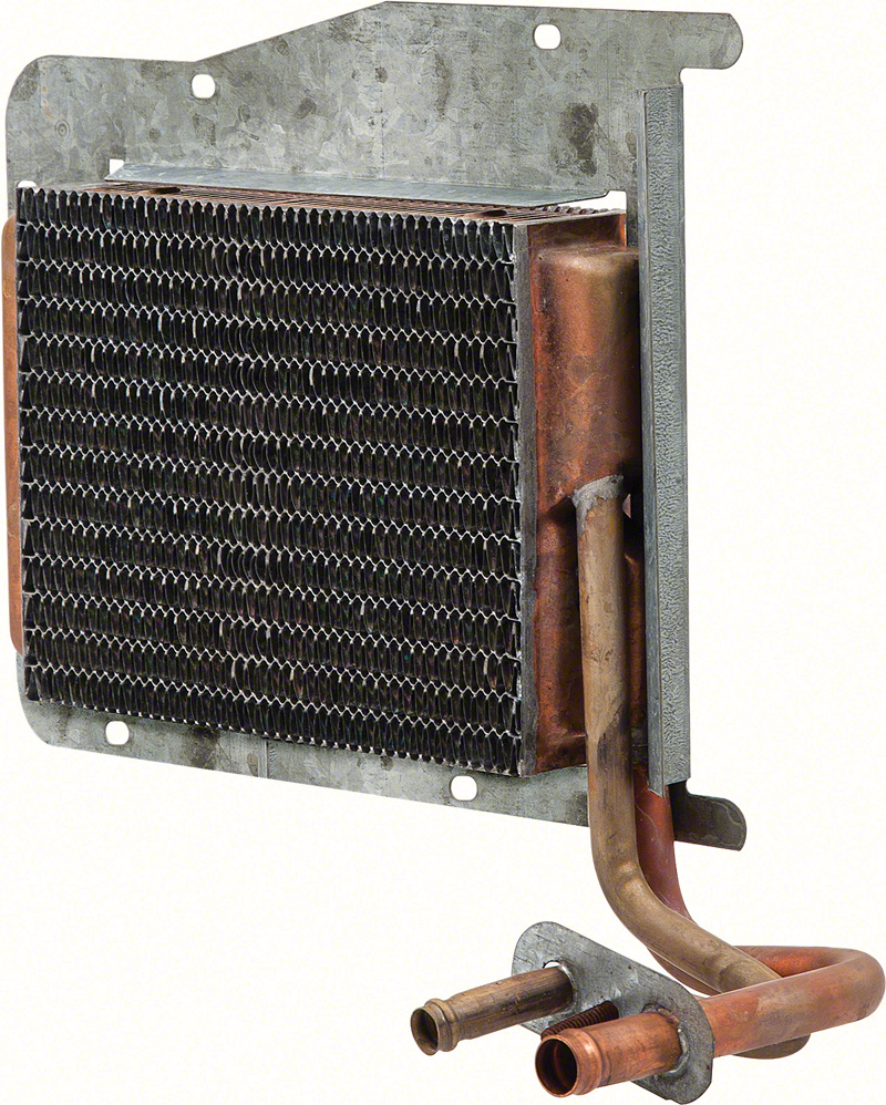 "73-76 A BODY COPPER/BRASS HEATER CORE WITH AC 8""X6""X2"""