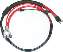 67-68 A BODY POSITIVE BATTERY CABLE BIG BLOCK WITH SPLIT STARTER LUG/HEAT SHEATH