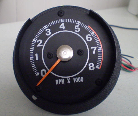 64 B BODY DODGE CLUSTER TACHOMETER, REPLACES BLANK OR CLOCK