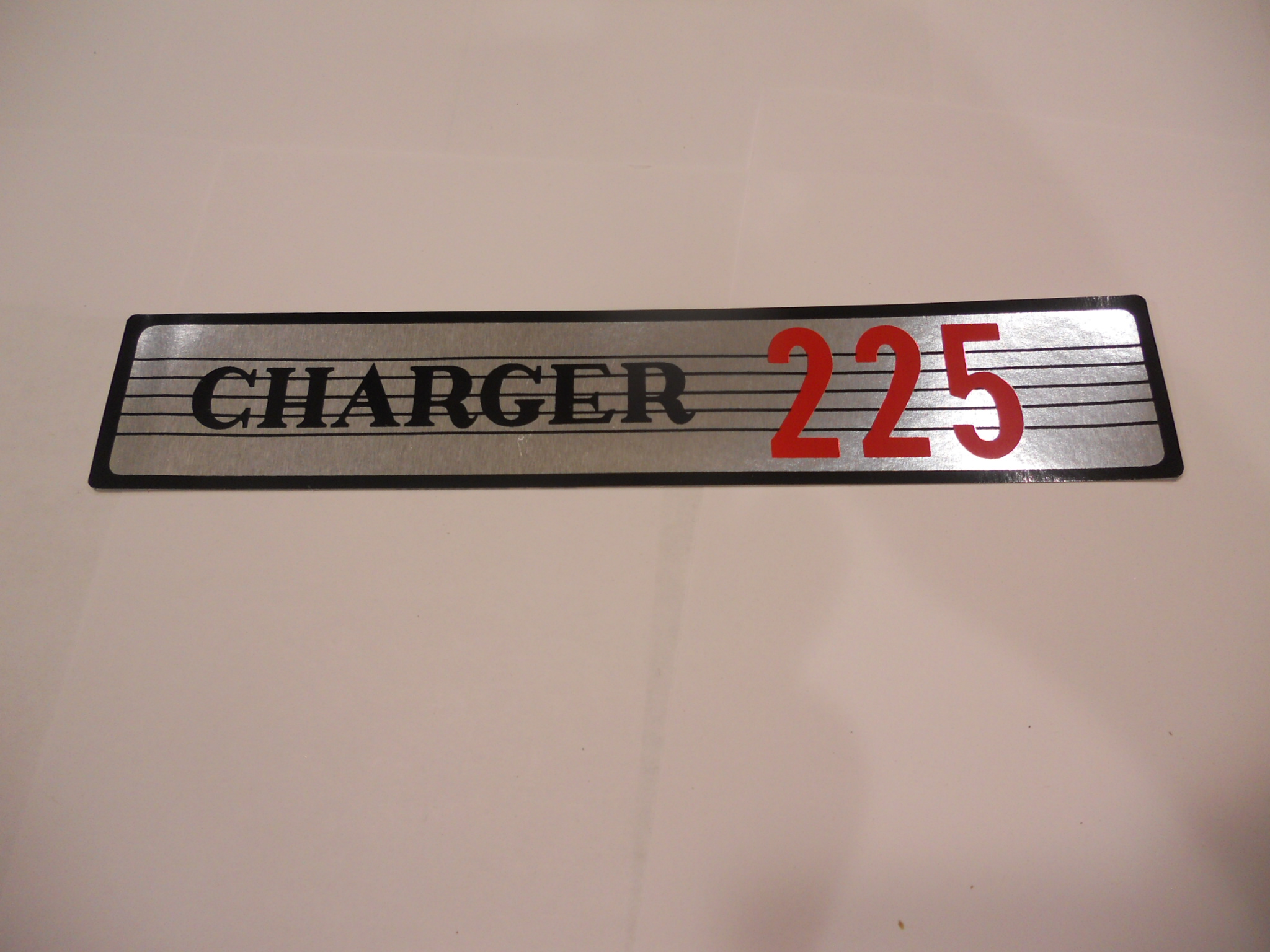 1963-68 DODGE CHARGER 225 AIR CLEANER DECAL