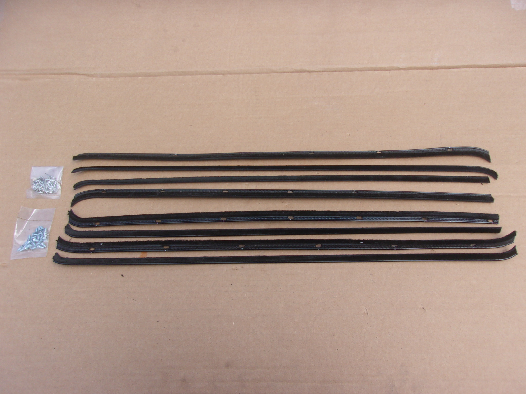 55-56 PLYMOUTH/DODGE 4 DOOR SEDAN BELT CATWHISKERS